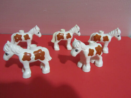 Lego Duplo Farm Animals Horse Pony Ponies Lot Set of 5  YOUR CHOICE of Color