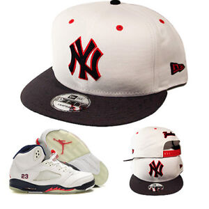 608b12c0abff91 New Era New York Yankees Snapback Hat Match Air Jordan 5 Midnight ...