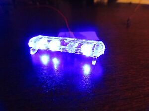 1-24-Flashing-ALL-BLUE-LED-Low-Profile-Lightbar-for-Custom-Police-Diecast-Models