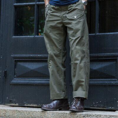 Vintage Gurkha Pants UK Army Bermuda Herren Freizeit Hose Khaki Loose Trousers