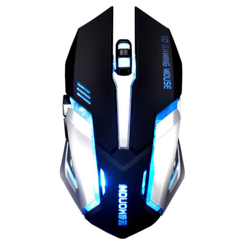 2.4GHz Wireless A8 Rechargeable Silent USB Optical Ergonomic Gamer Gaming Mouse