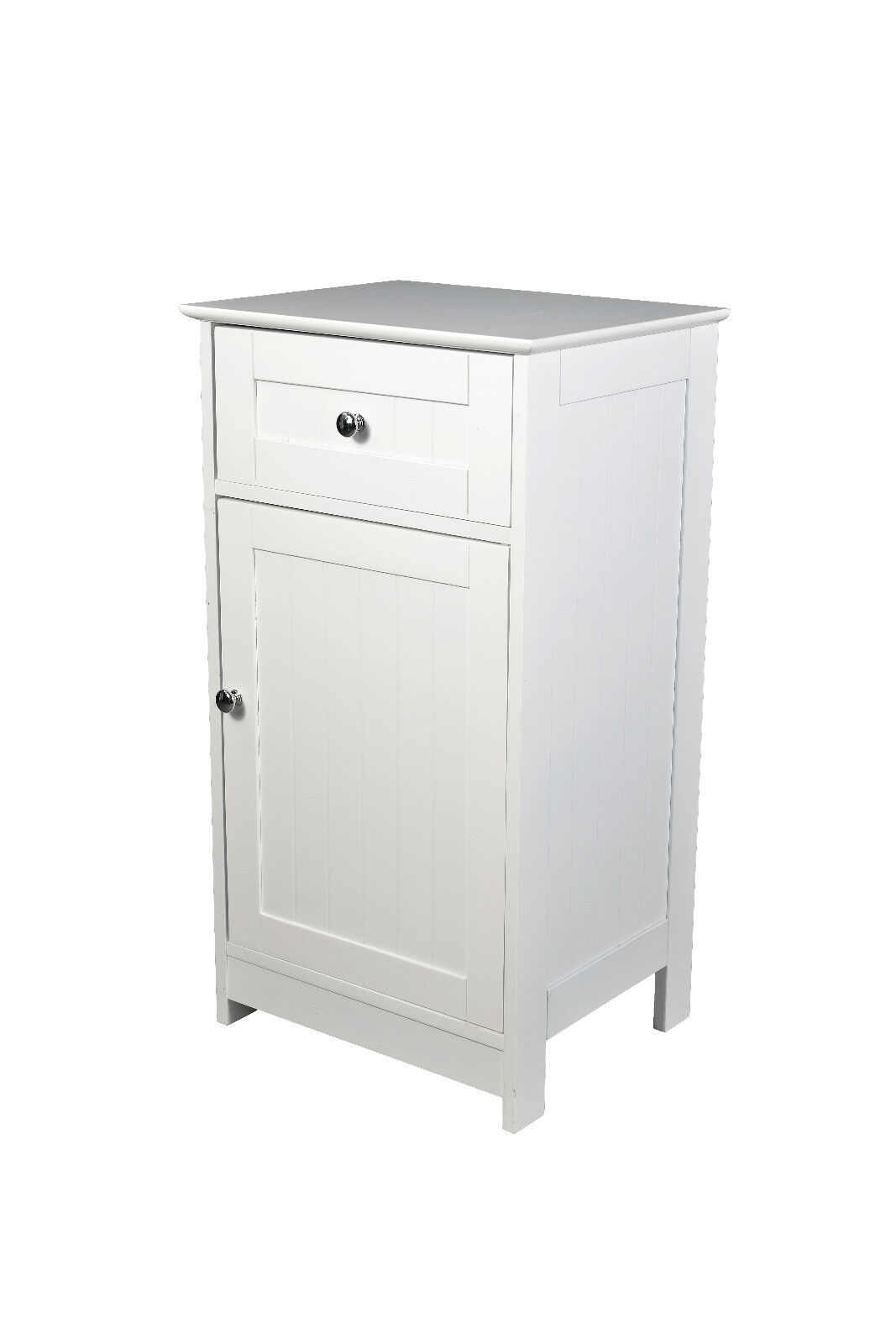 large image. Malmo 1 Door 1 Drawer Low Storage Unit  sc 1 st  eBay & Malmo White Painted Low Storage Unit / Modern Cabinet / Bathroom ...