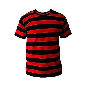b783b752791a BLACK   RED STRIPED MENS T SHIRT PUNK CLASH PISTOLS Sid Vicious ...