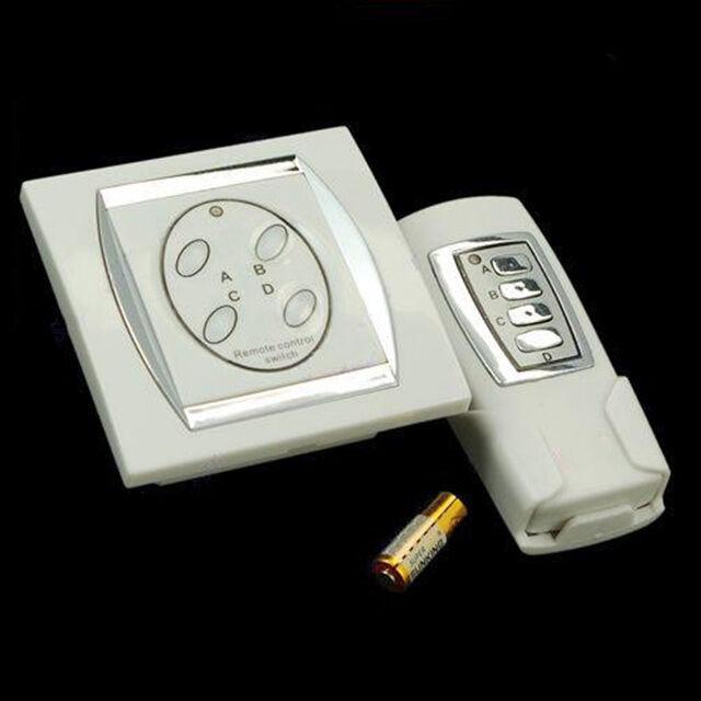 NEW Digital 4 Port Wireless Home Appliance Remote Control Power Switch 50m Range