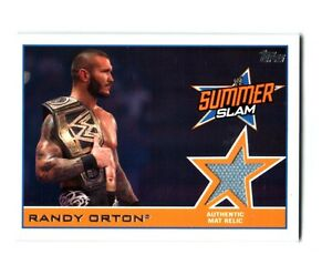 WWE-Randy-Orton-2014-Topps-Event-Used-SummerSlam-2013-Mat-Relic-Card
