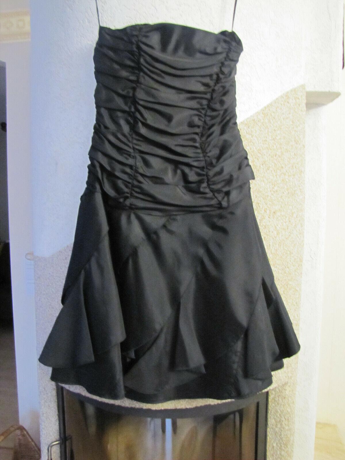 40 42 designer Kleid schwarz ausgefallen schön neuwertig Maße beachten
