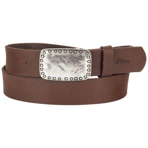 S Oliver señora cinturón de cuero marrón acoplamiento 32.608.95.7054-8759