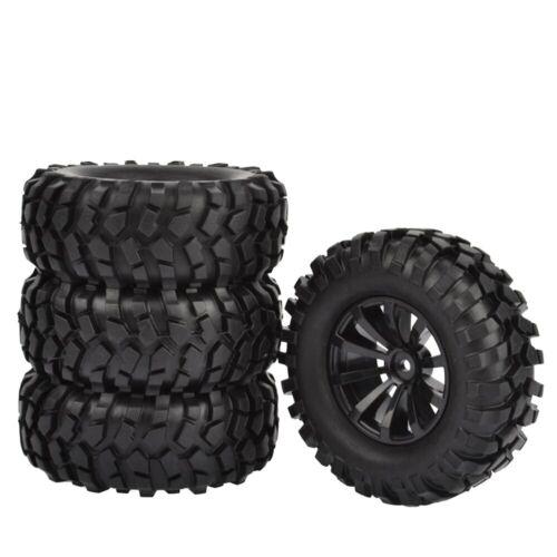 "1.9/"" Rubber Tires//Wheel Rims for Axial SCX10 D90 Tamiya CC-01 1//10 RC Crawler"