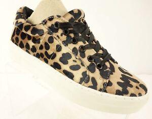 77256b596bc8 NEW REPORT Aioli Leopard Platform Sneakers Women s 6.5 Velvet Animal ...