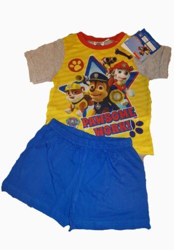 Paw Patrol Garçons Court Pyjamas 18 Mois 5 ans