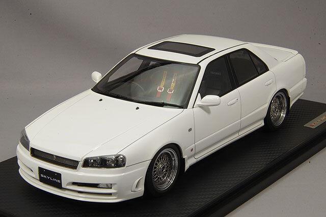 gli ultimi modelli 1 18 IG ignition  IG1580 IG1580 IG1580 Nissan cieloline 25GT Turbo GTT GTR (ER34) bianca  economico in alta qualità
