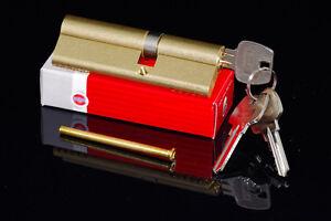 Zylinder-Tuerschloss-Schliesszylinder-Zylinderschloss-3-15-Schluessel-alle-Laengen