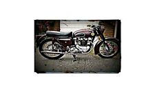 1957 ariel huntmaster Bike Motorcycle A4 Photo Poster