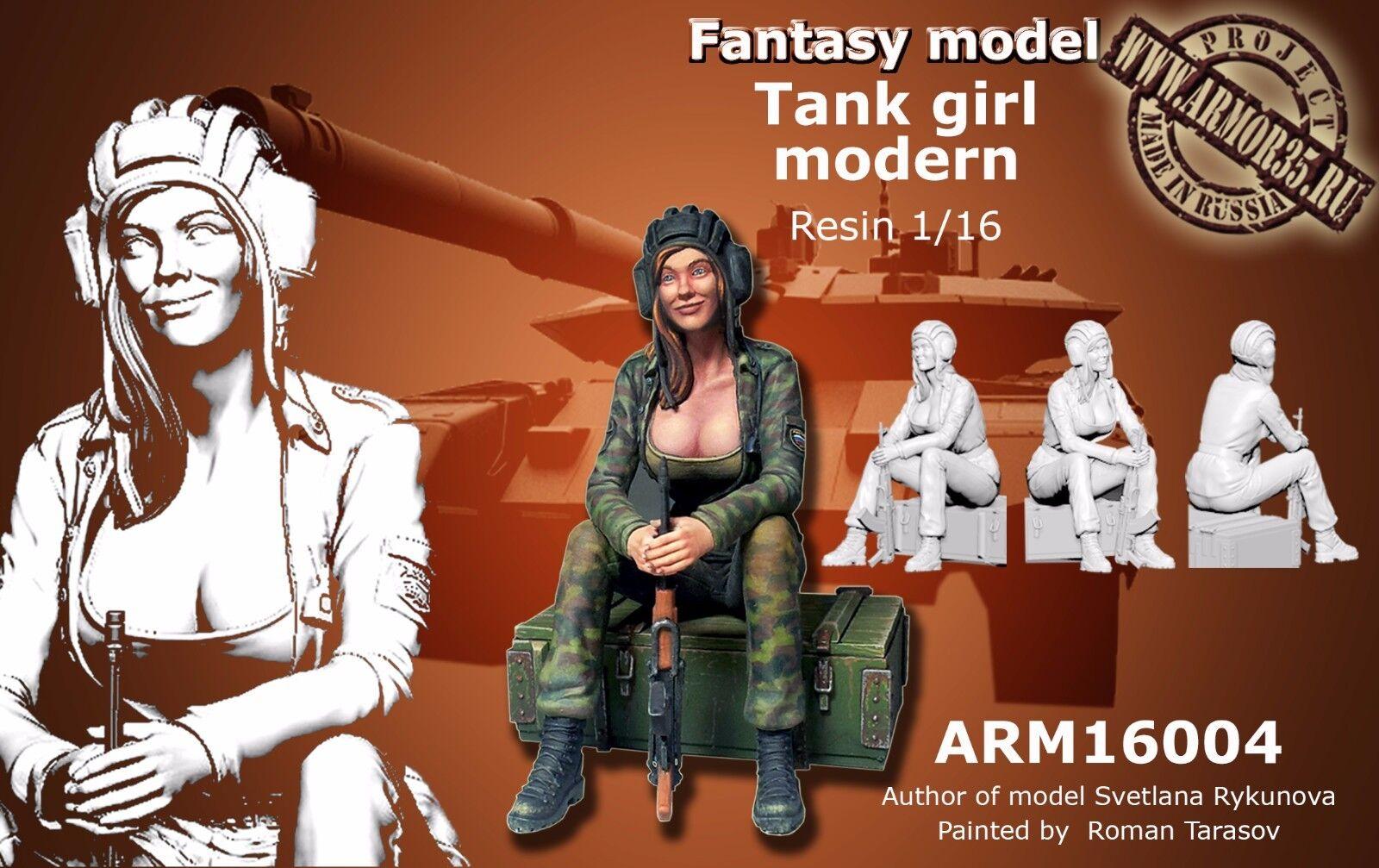 ARMOR35 16004 MODERN TANK GIRL RESIN SCALE MODEL FIGURE 1 16 NEW