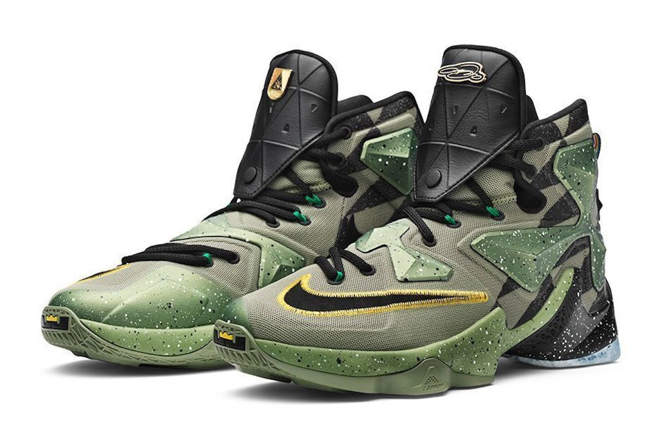 NIKE LeBron XIII 13 All Star Basketball Shoe 835659-309 Green Black Alligator 14