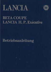 LANCIA-BETA-COUPE-1300-1600-2000-Betriebsanleitung-1982-H-P-Executive-2000-BA