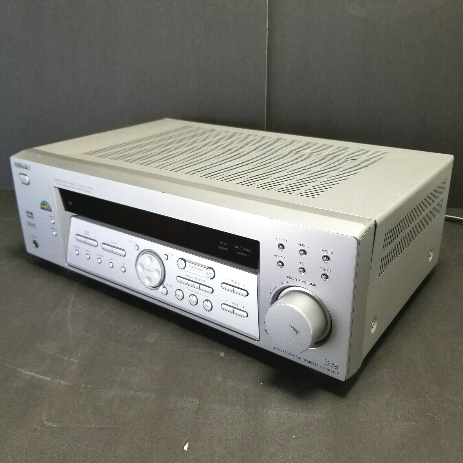 Sony STR-K740P AM/FM Stereo Receiver Digital Audio Video Control Center Silver. Buy it now for 59.99