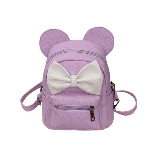 US Student Cartoon Mickey Backpack Female Kids Bag Girl Boys Lovely School Bag F