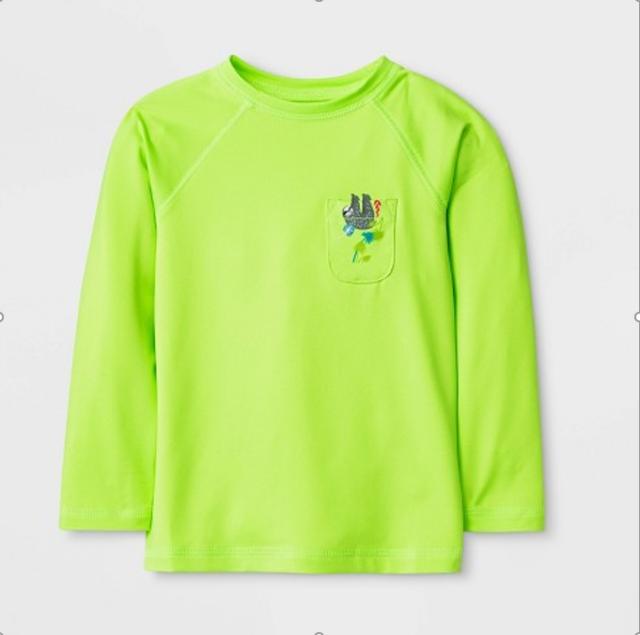 Cat /& Jack Toddler Boys Long Sleeve Rash Guard Shirt
