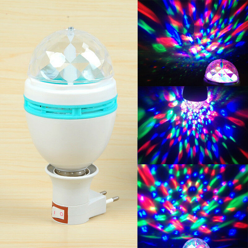 E27 3W RGB LED Rotierende Lampe Weihnachten Disco Party Club Stage Light