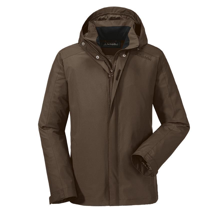 Schöffel Schöffel Schöffel Jacke AALBORG Herren Outdoorjacke Regenjacke braun 48-60 Wanderjacke b2b02c