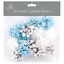 SMALL BOWS /& RIBBON COPS METALLIC MERRY CHRISTMAS XMAS PRESENT GIFT WRAPPING