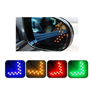 Espejo-Retrovisor-Lateral-de-Coche-2x-14-SMD-LED-Lampara-Luz-Accesorios-Kit-de-Senal-de-Vuelta