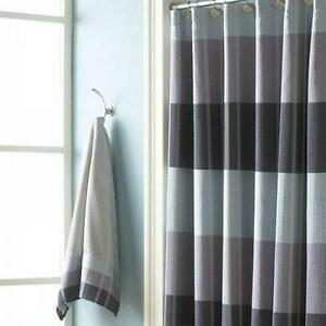Image Is Loading NEW Croscill Fairfax Fabric Shower Curtain In Stripe