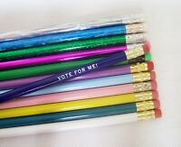 48 Round Personalized Pencils In 48 Different Colors (w/glitzy)