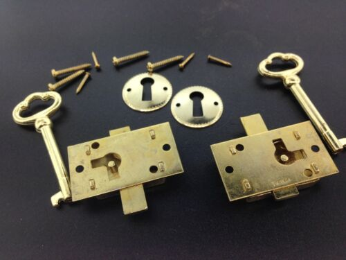 2 Curio Cabinet Front Door key and Lock Set
