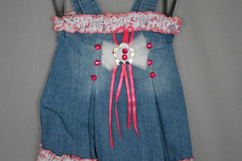 Kids Fashion Tolles Sommerkleid Kleid Kleichen Jeans Kleid Gr.86-104 TOP Rosa