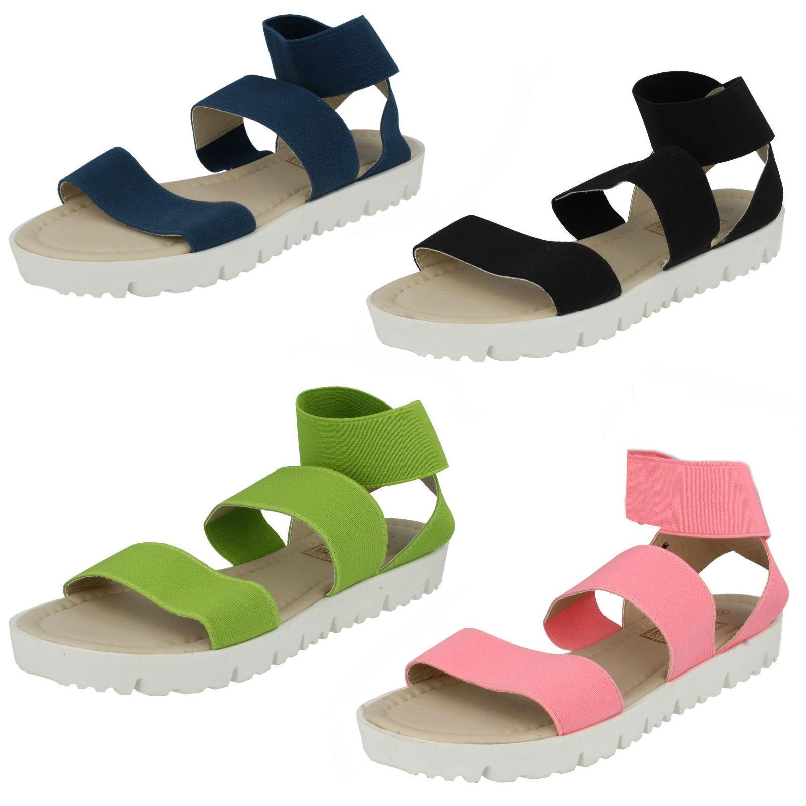 SALE sandals NOW Ladies Down to earth elastic sandals SALE 4 colours available F10406 61e98c