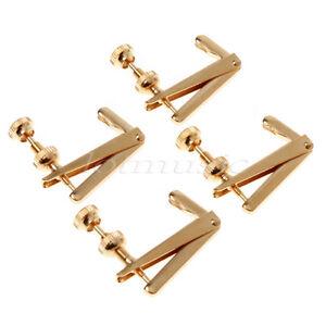 Set of 4 Violin String Fine Adjuster Tuners Black//gold 3//4 4//4