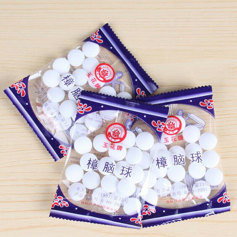 Moth Balls Pest Insect Control Anti Mold Repellent Camphor Scented Clothing 50Pc