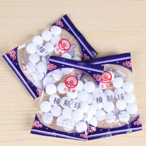 Natural Mothballs Anti-mold Moth Repellent Camphor Ball Pest Control Wardrobe WF