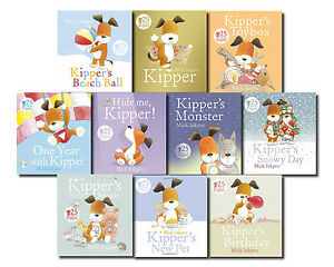 Kipper-the-Dog-Collection-10-Books-Set-in-Bag-Inc-Toy-box-Birthday-Snowy-Day