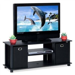 TV-Stand-Console-Media-Cabinet-Table-Entertainment-Center-Wood-Storage-Bins