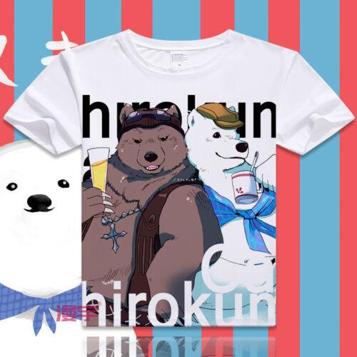 Japanese Anime Shirokuma Cafe White Short Sleeve Unisex Otaku T-shirt Tops