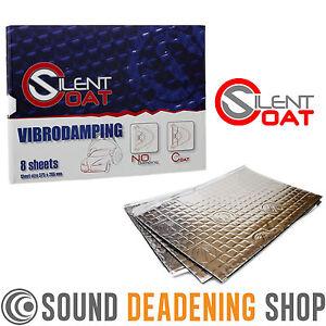 Silent Coat 2mm Door Pack 8 Sheets Car Sound Deadening Vibration Proofing Mat
