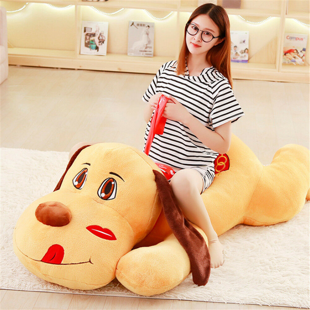 Giant Lying Dog Plush Soft Doll Animal Toys Pillow Stuffed Cute Puppy Kids Gifts