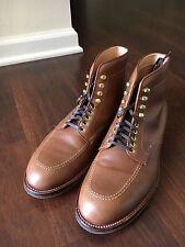Alden Natural CXL Indy Boots Size 8.5D Trubalance Brass Commando Sole