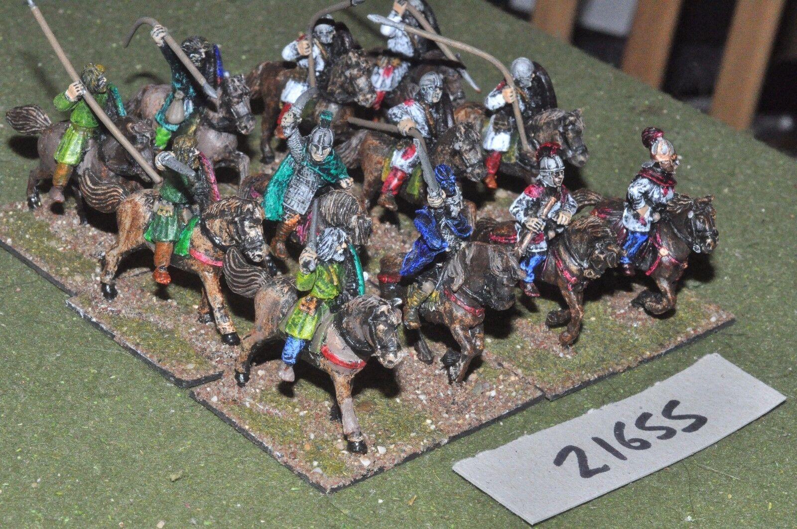 25mm roman era   roman - auxiliary 12 figs cavalry - cav (21655)