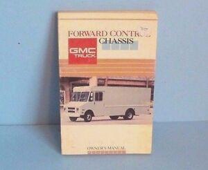 gmc motorhome owners manual