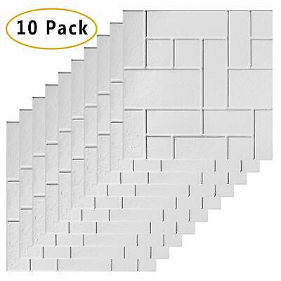 Awekris 3d Peel And Stick Tile Backsplash 10 Sheets Subway