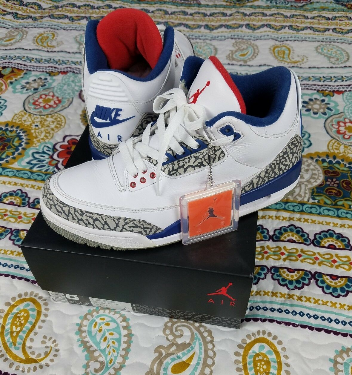 Nike Air Jordan OG Retro  True bluee  3 III Mens sz 8.5 Basketball shoes Sneakers