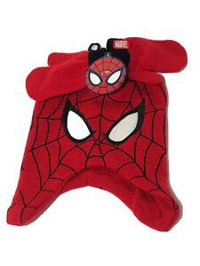 Spiderman-Marvel-Conjunto-Gorro-y-Guantes-de-invierno