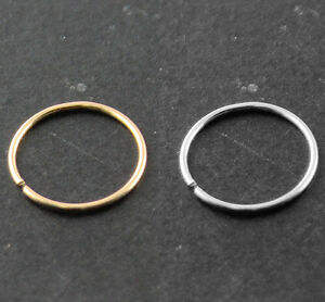 14k-Gold-Seamless-Nose-Hoop-Ring-Ear-Tragus-piercing-22G-0-6-mm-Body-Jewelry