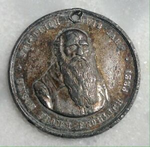 Friedrich Ludwig Jahn- Metal Medal With A Little Hole Asw Mm.38. Year 1869.