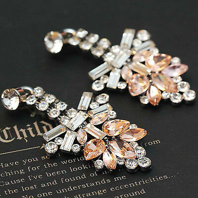 2014 New design women gorgeous bib statement  mixed crystal long Earrings e266