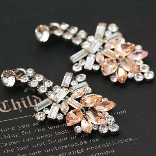 2018 New Design Women Gorgeous Bib Statement Mixed Crystal Long Boucles D/'oreilles e266